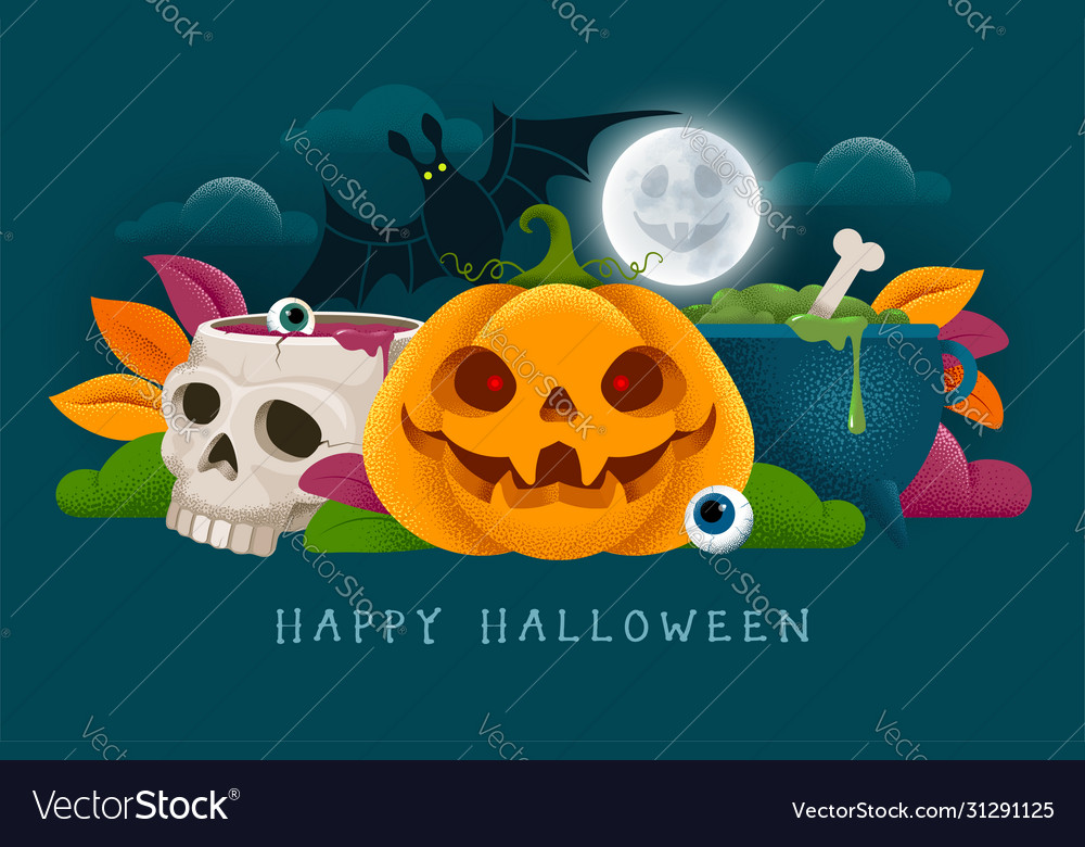 Happy halloween banner or party invitation