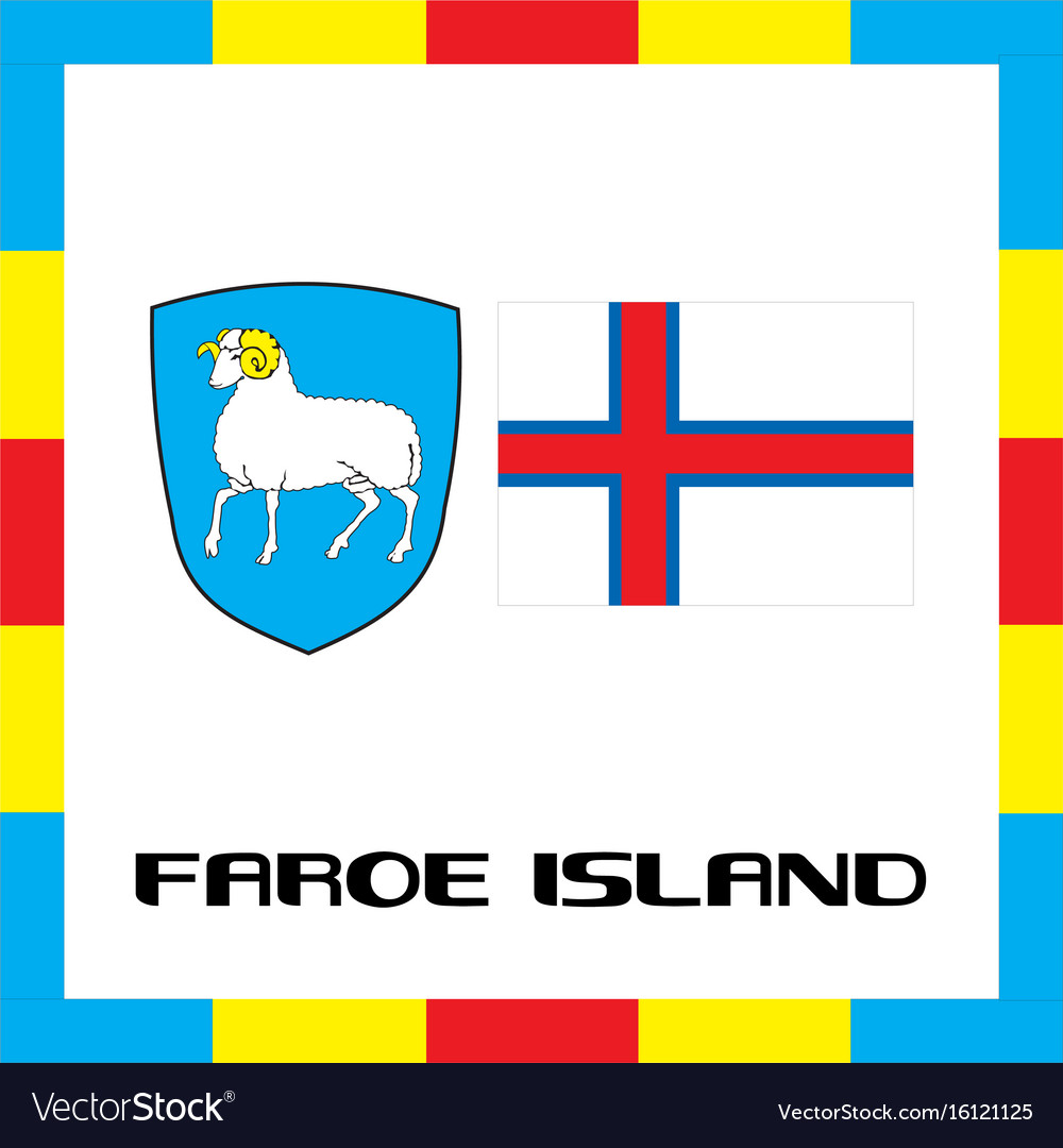 Official government ensigns of faroe island vector image