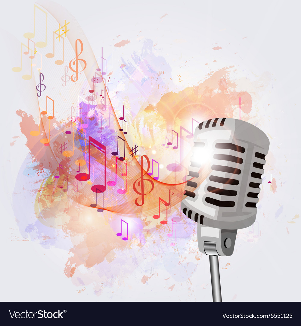 Картинки ноты и микрофон