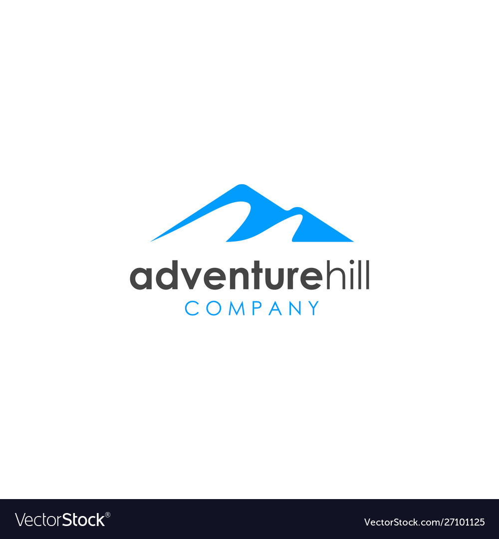 Simple mountain hill logo design