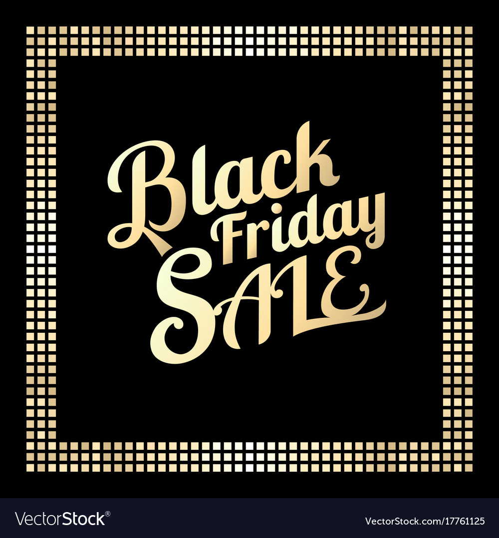 Typography black friday