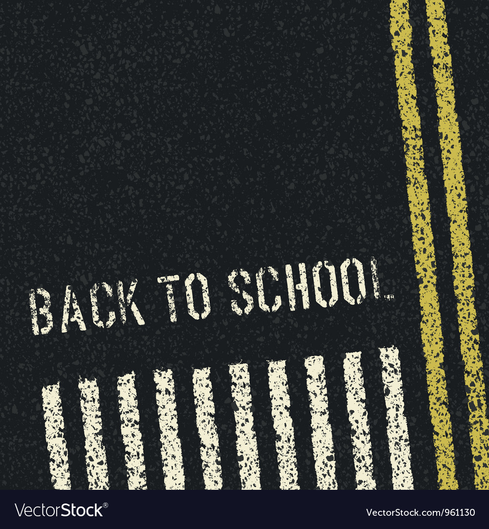 Back to school road concept
