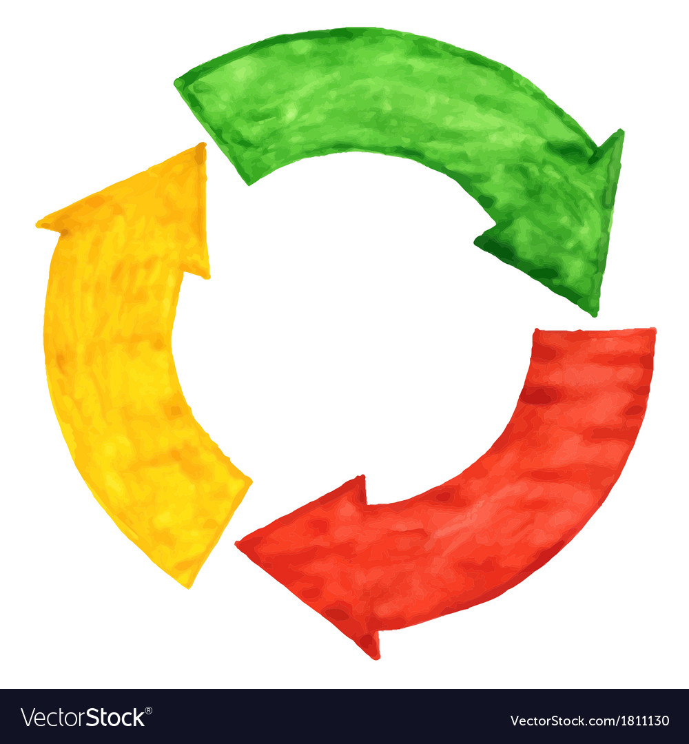 Circular arrows vector image