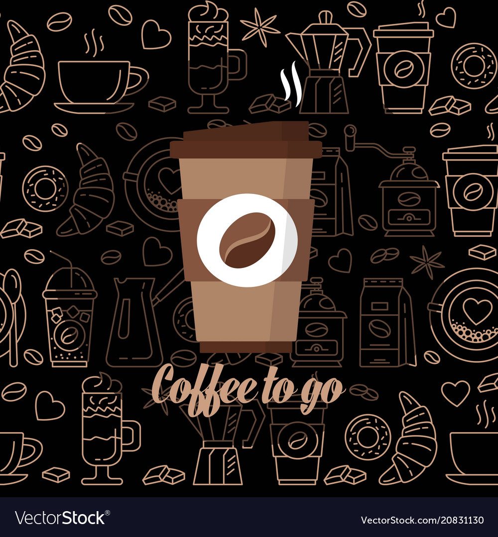 Coffee to go icon paper cup icon for web and
