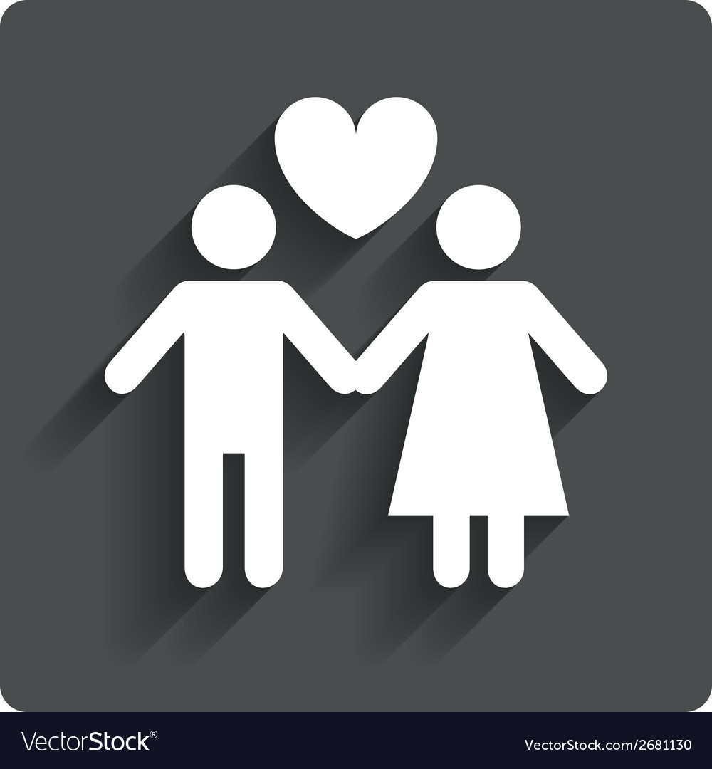 Couple sign icon Male love female Lovers
