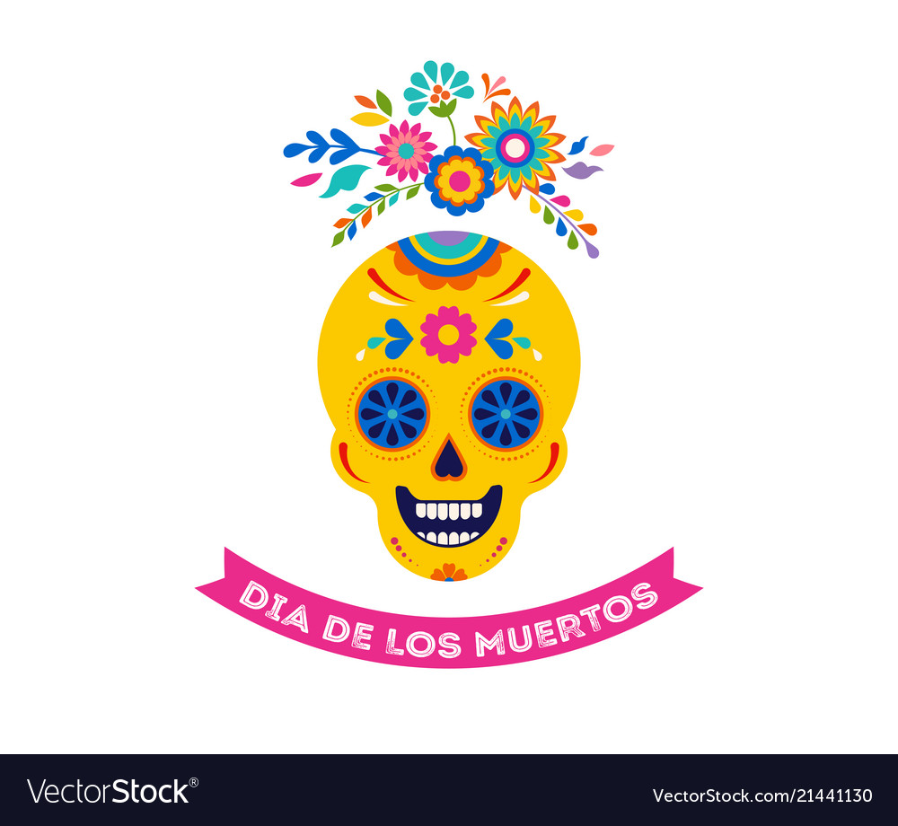 Day of the dead dia de los muertos background