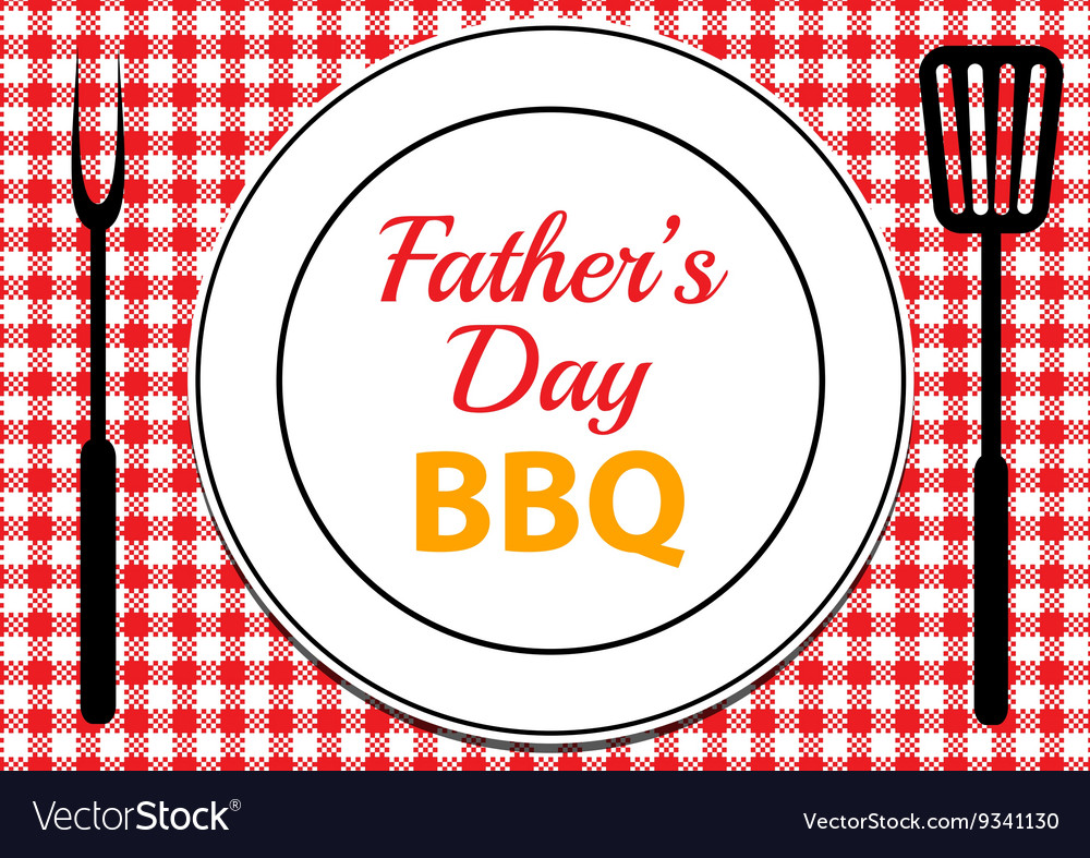 Fathers Day BBQ vector image