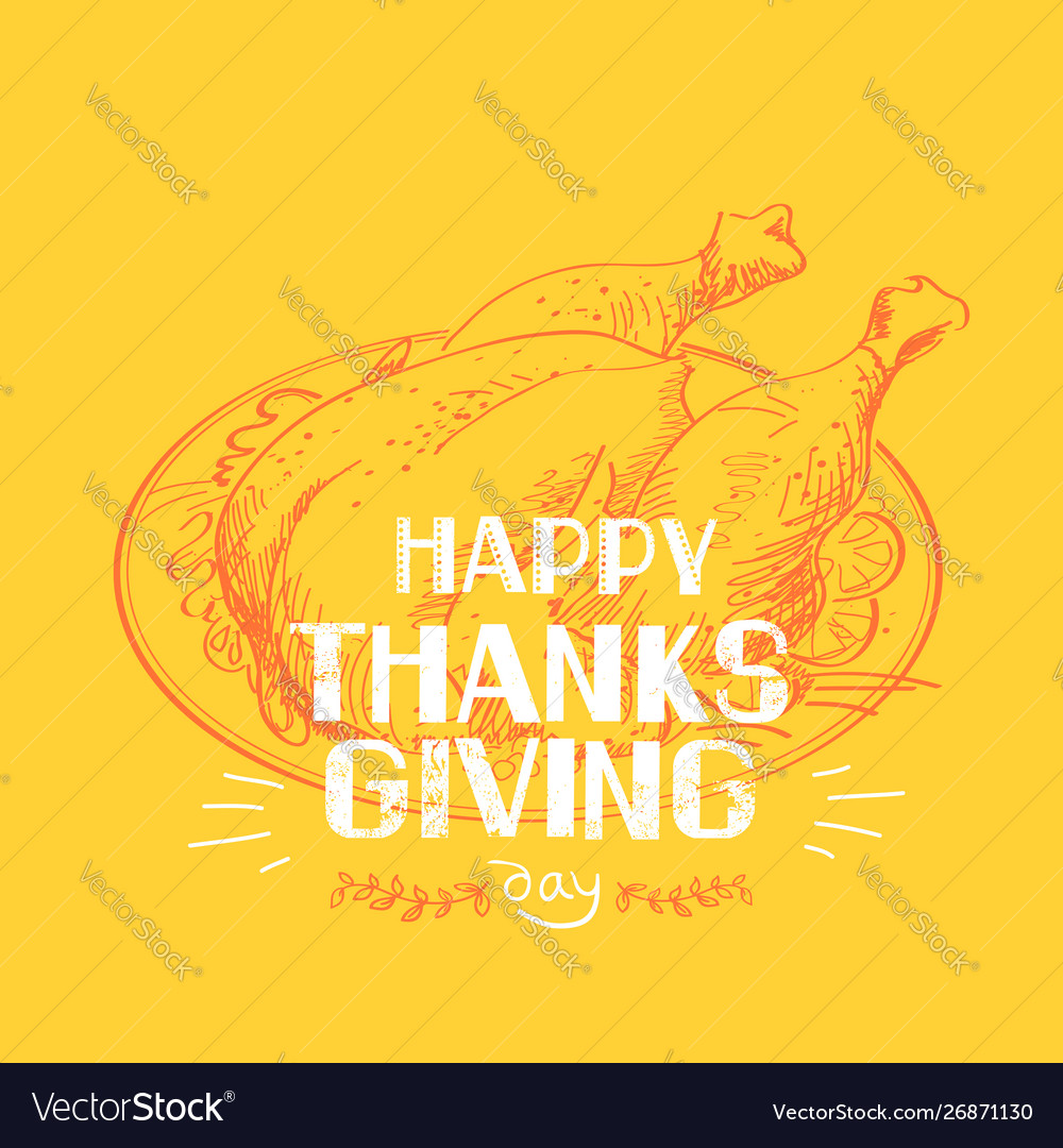 Happy thankgiving day american holiday with