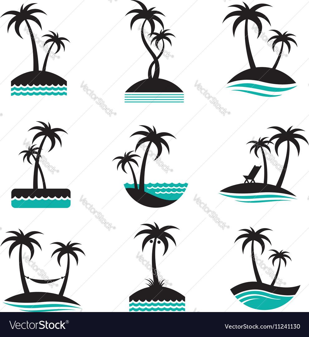 Palm labels set