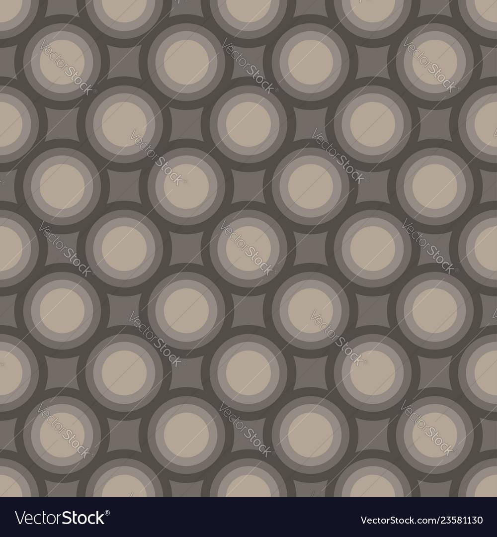 Seamless art abstract mosaic dark gray circles