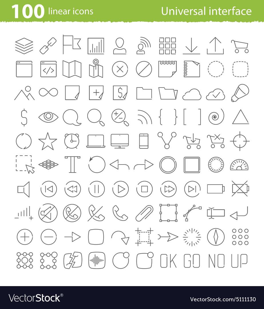 Universal inerface icons