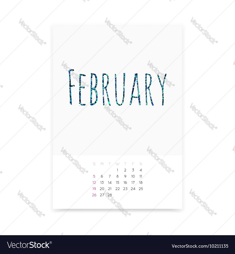 February 2017 Calendar Page