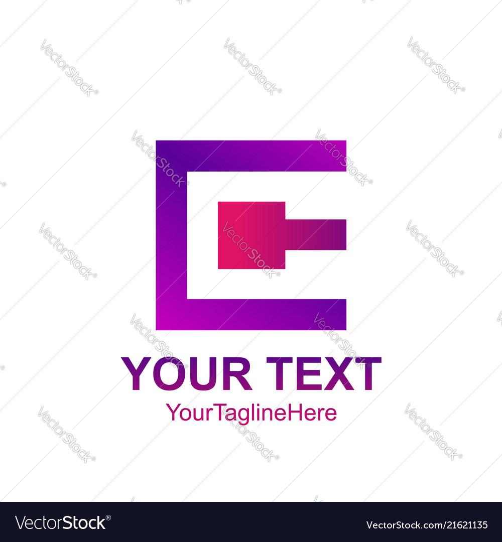 Initial letter c logo template colorfull square