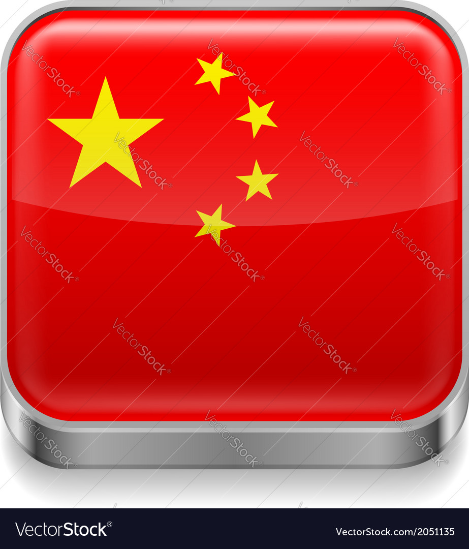 Metal icon of China