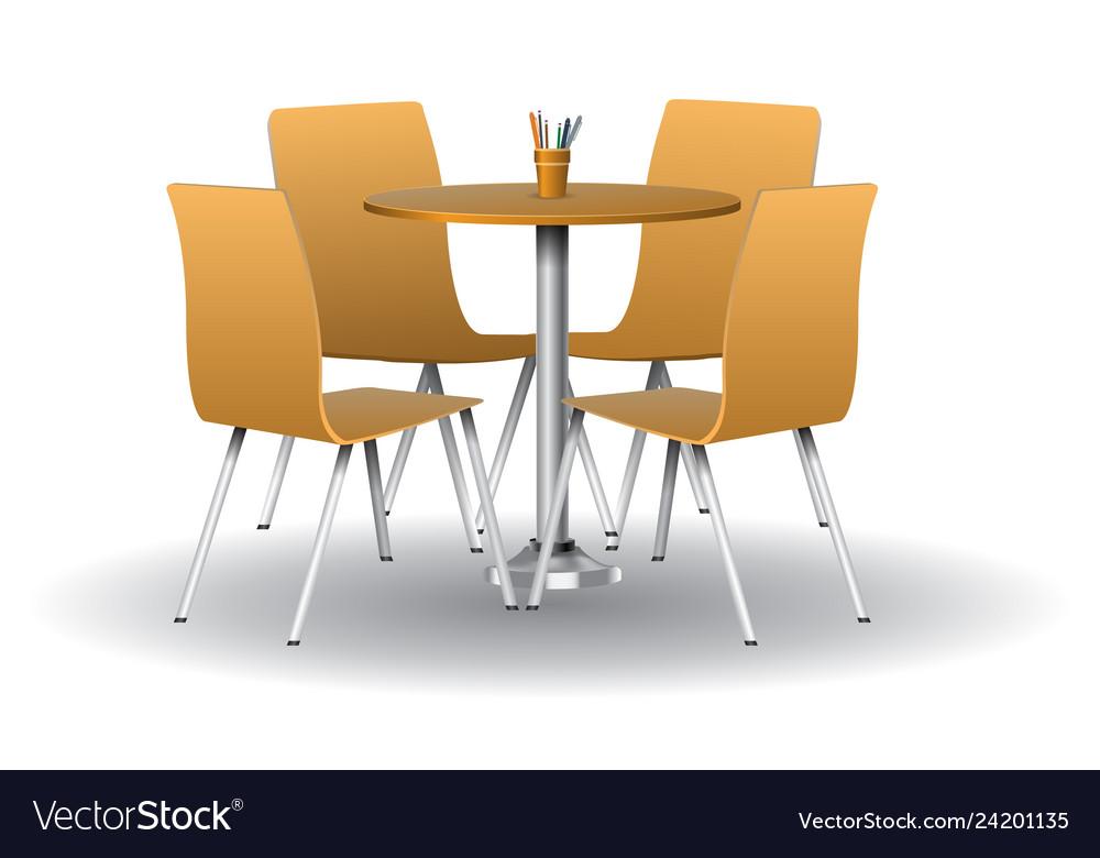 Astounding Orange Color Modern Round Table With Chairs Creativecarmelina Interior Chair Design Creativecarmelinacom