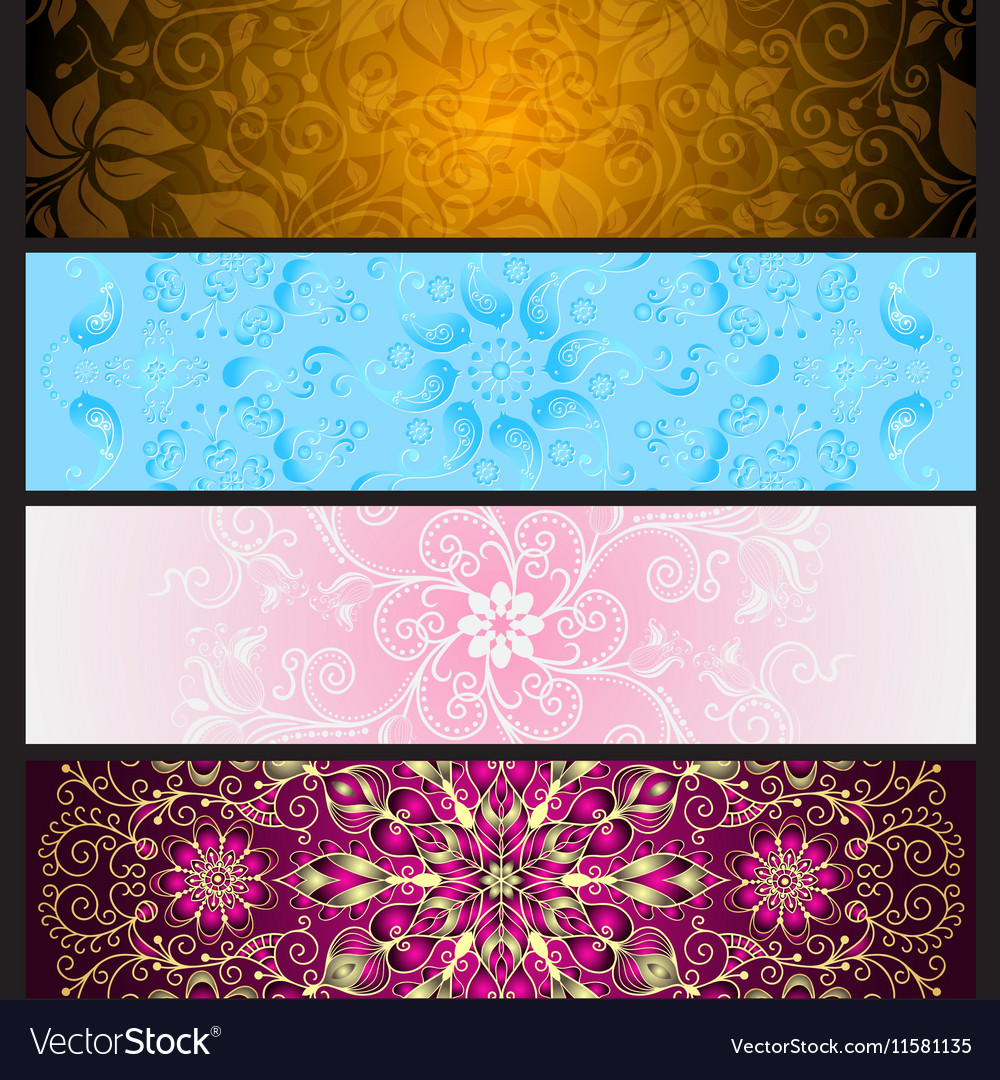 Set colorful gradient banners