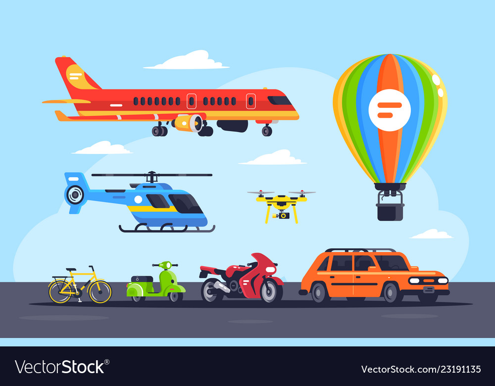 Set mode of transport with car balloon