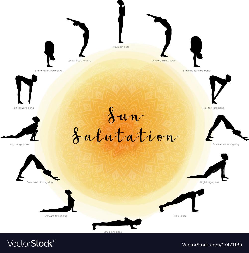Sun salutation surya namaskara