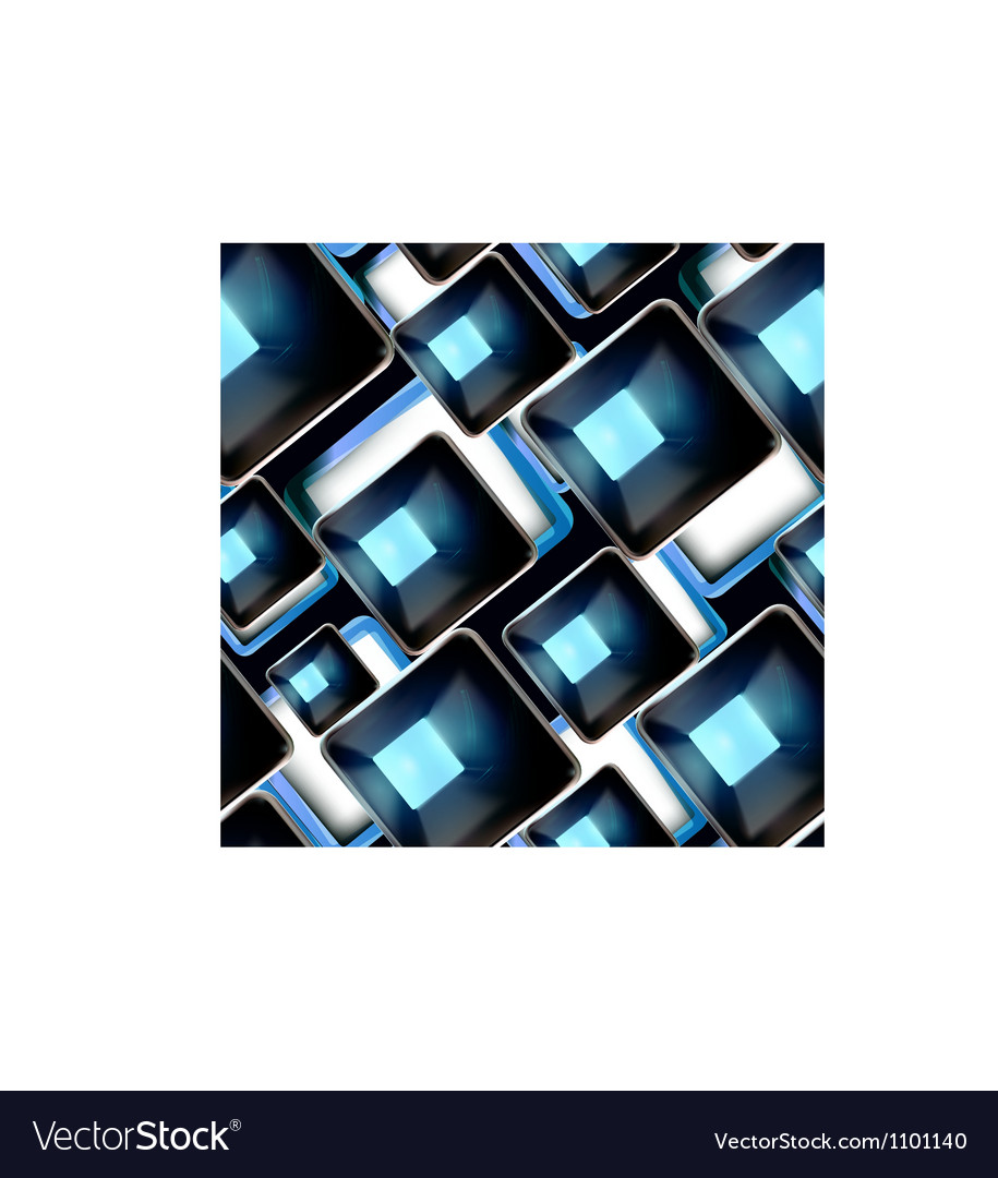 Abstract background black and blue seamless vector image