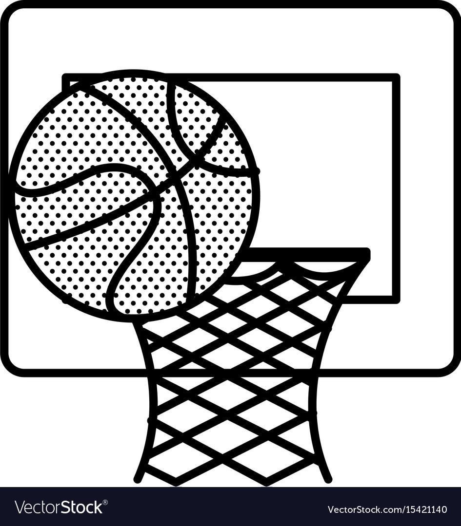 Basketball balloon and basket