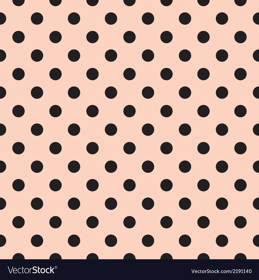 Black Polka Dots Tile Pattern Or Pink Wallpaper Vector Image