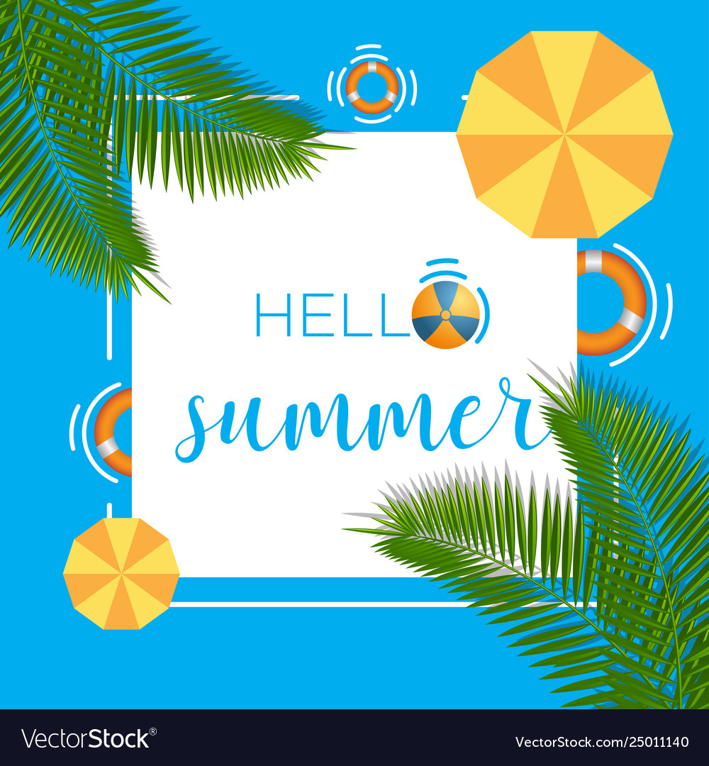 Hello summer background template