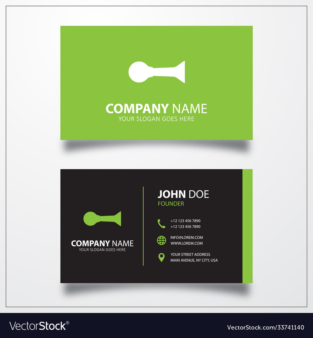 Horn klaxon icon business card template