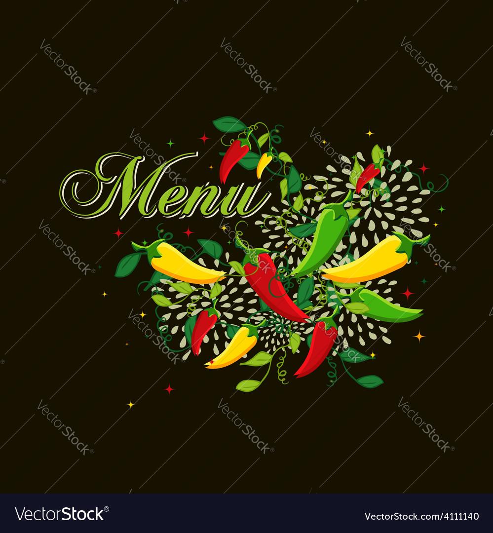 mexican food menu cover design royalty free vector image