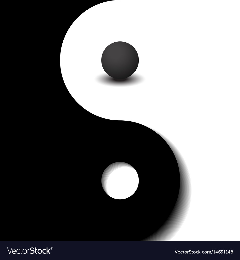 cheaper a0310 fc2c1 3d sphere black and white yin yang symbol Vector Image