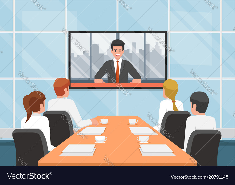 Business people at video conference call