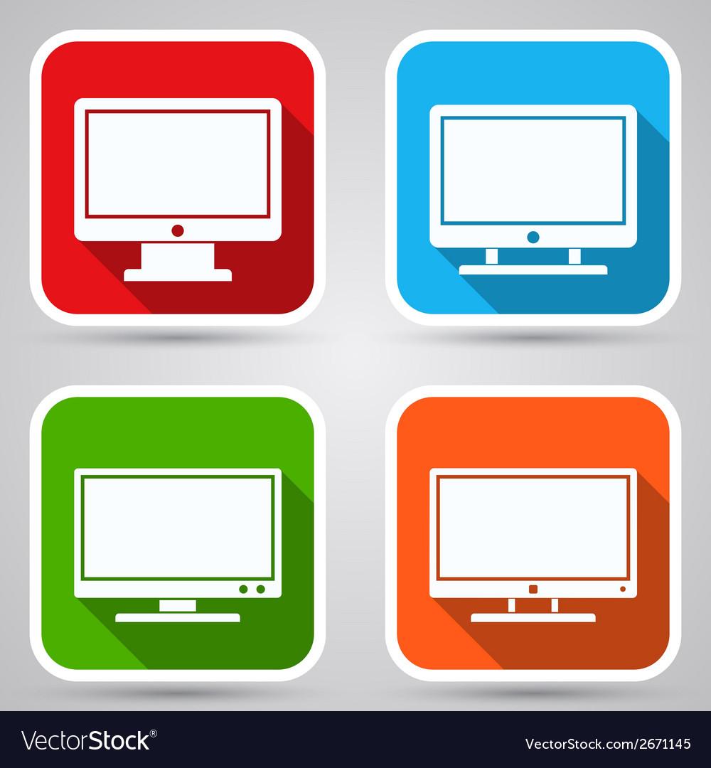 Computer monitor icons