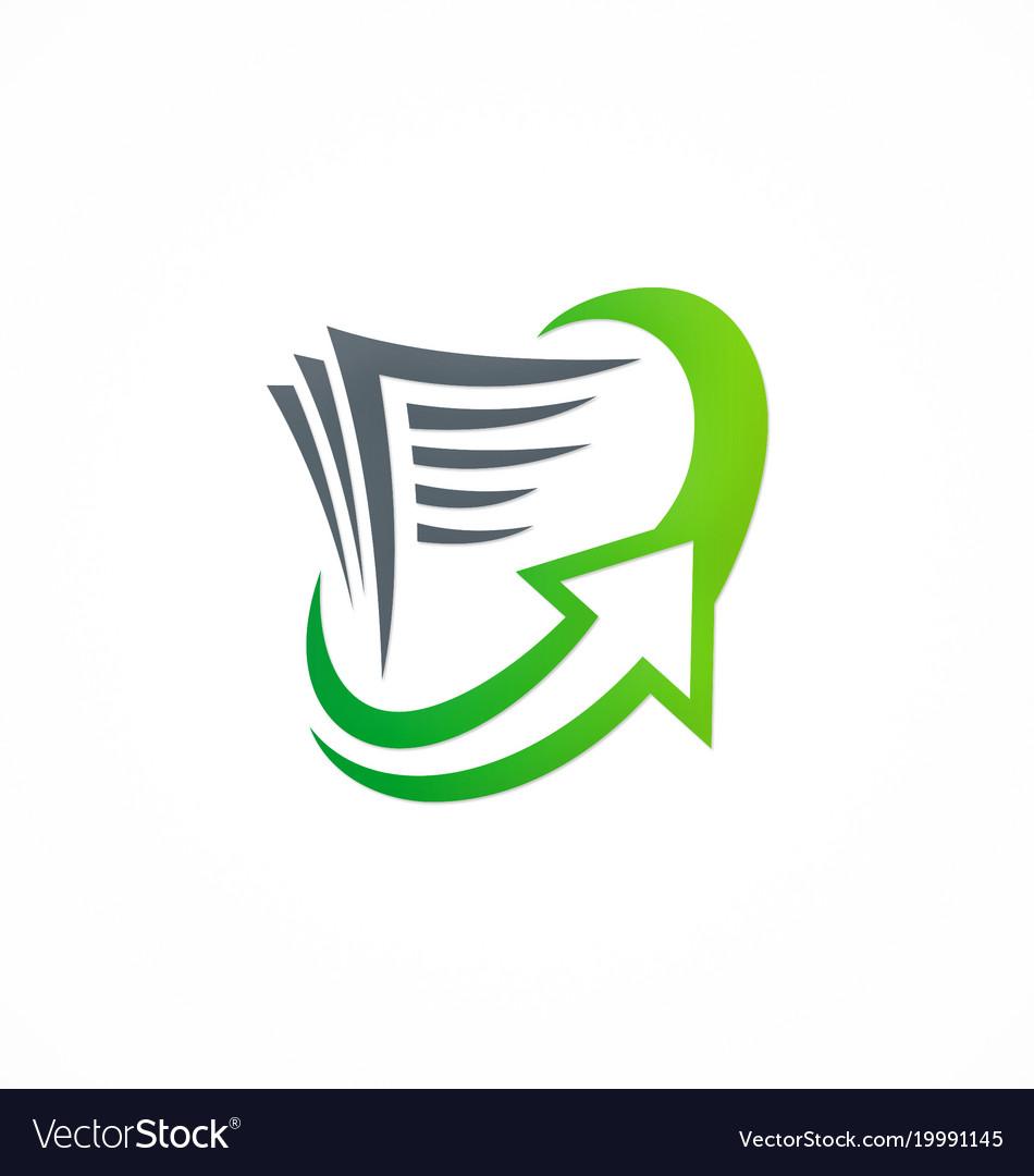 Document arrow upload logo