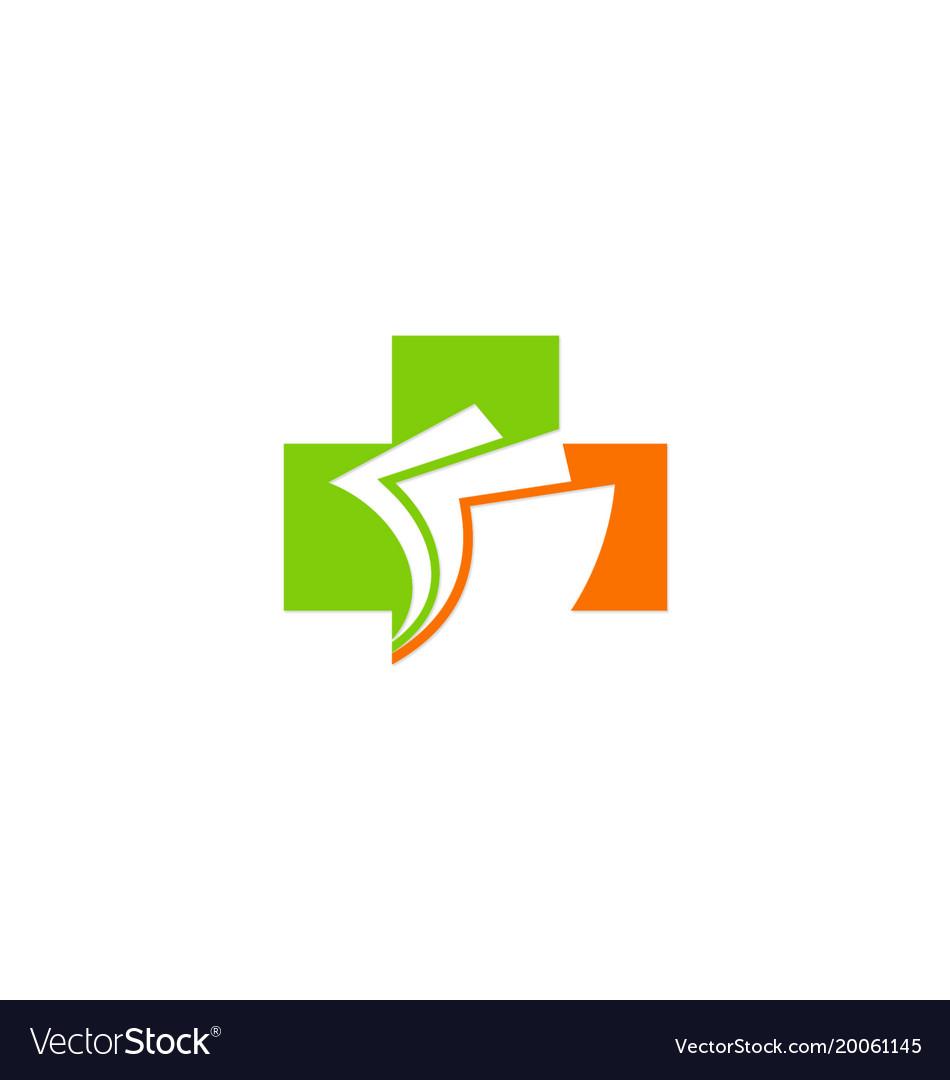 Hospital document company logo vector image