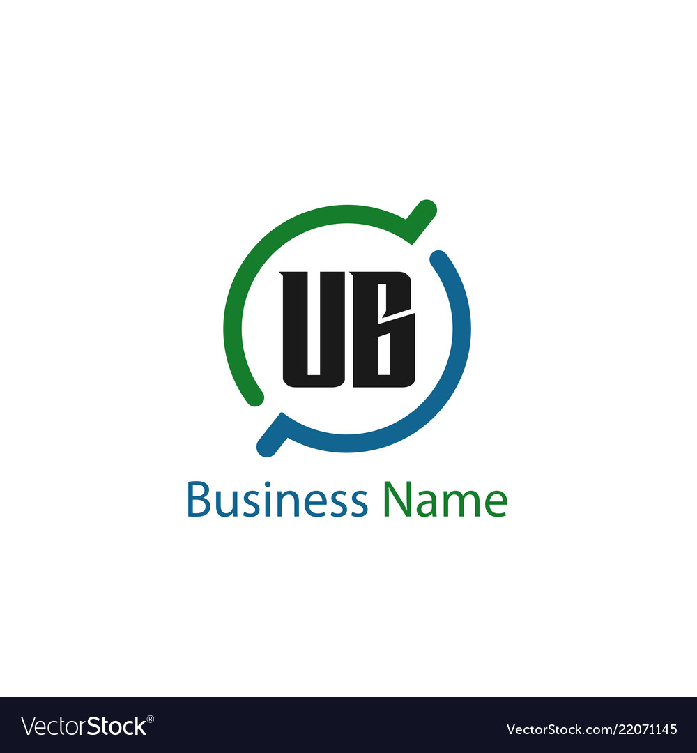 Gradient letters logo business card template vector — stock vector.