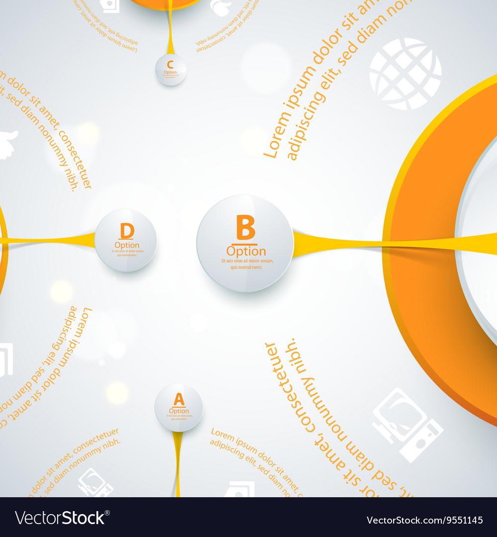 Modern orange design of info-graphics