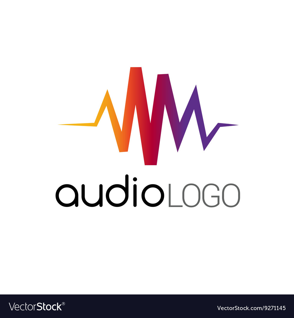 music logo concept sound wave studio music dj vector image rh vectorstock com