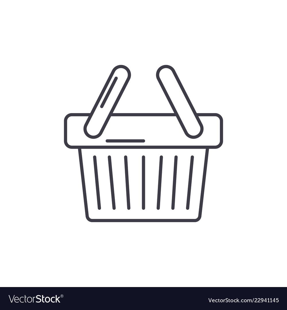 Shopping cart line icon concept shopping cart