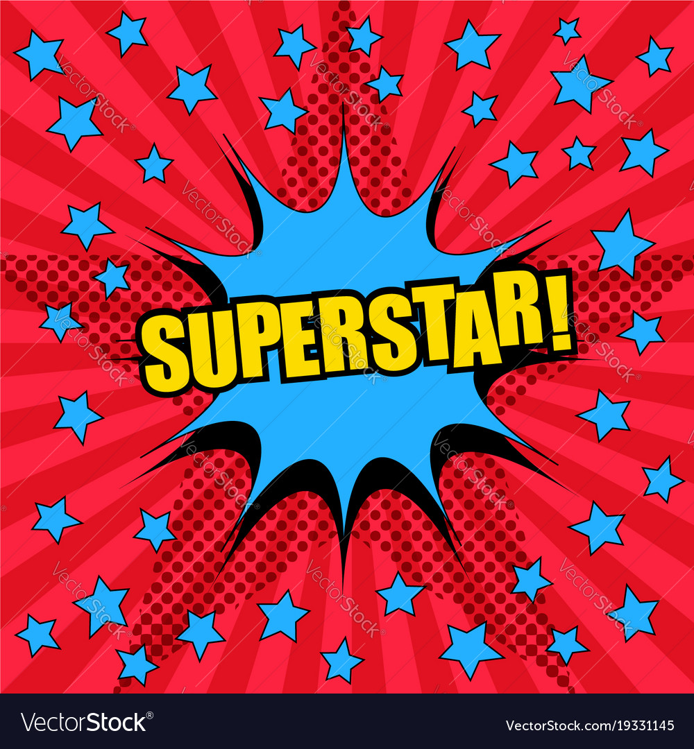 Superstar comic wording template