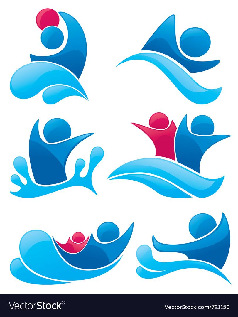 Aqua park symbols