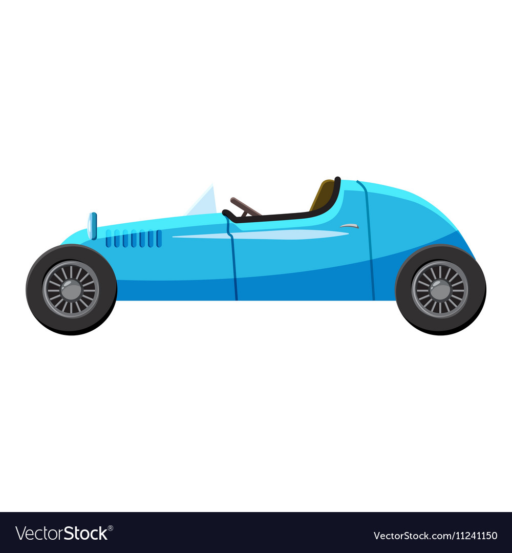 Blue sport car icon isometric 3d style