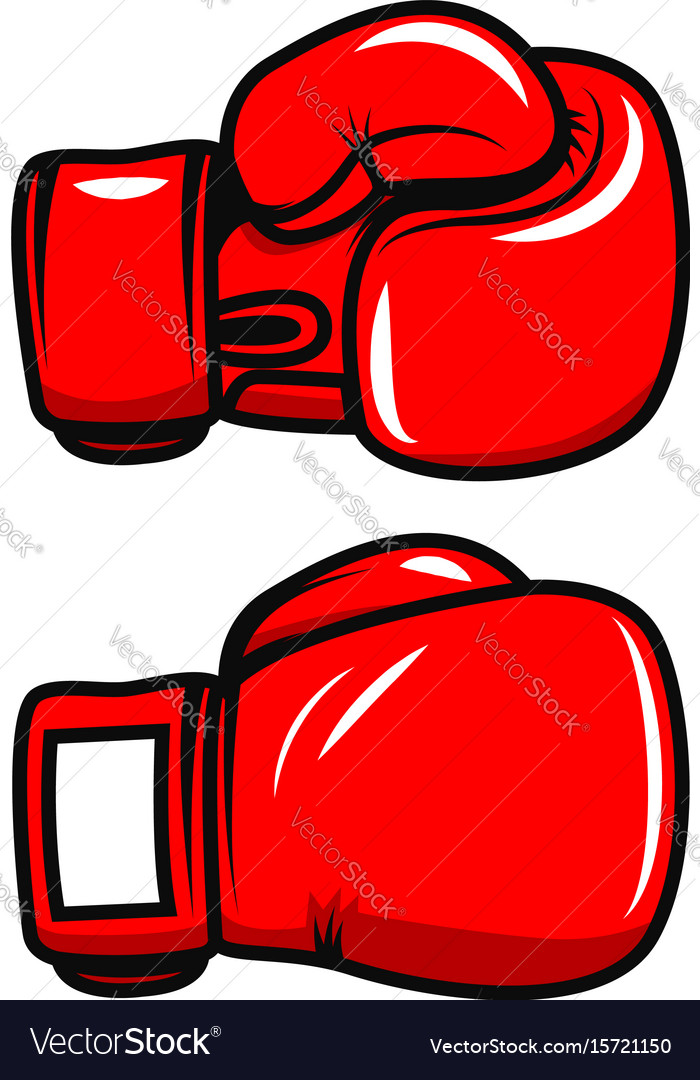 boxing gloves isolated on white background design vector image rh vectorstock com boxing glove vector image boxing glove vector ai