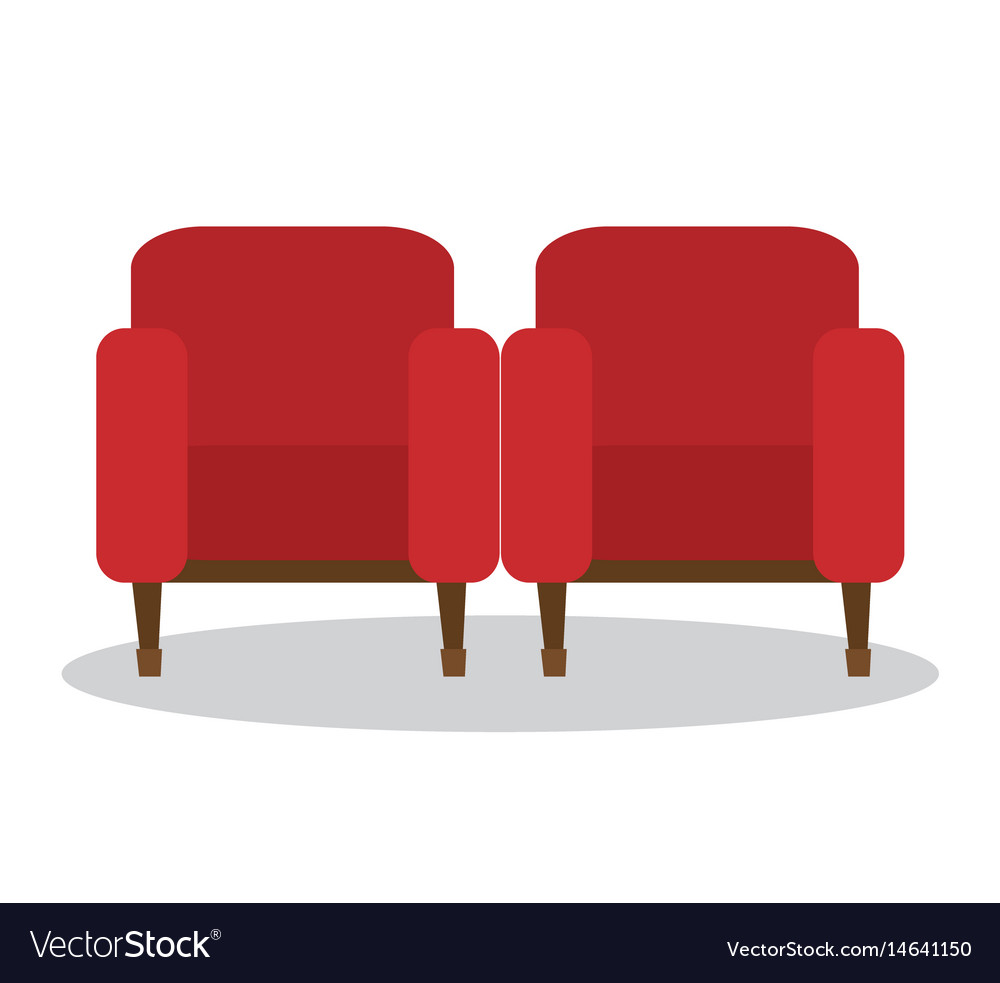 Merveilleux Cinema Chairs Isolated Icon Vector Image