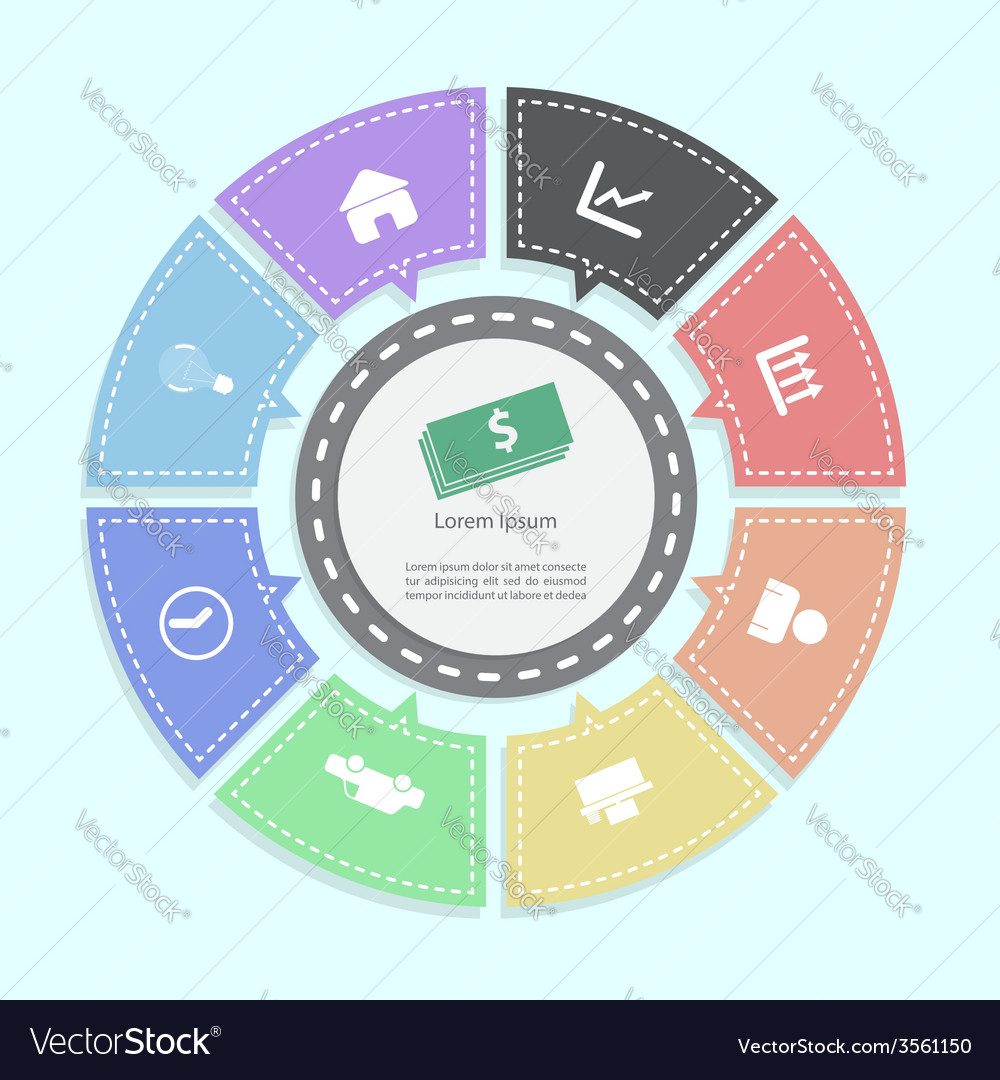 Circle business concepts Infographics