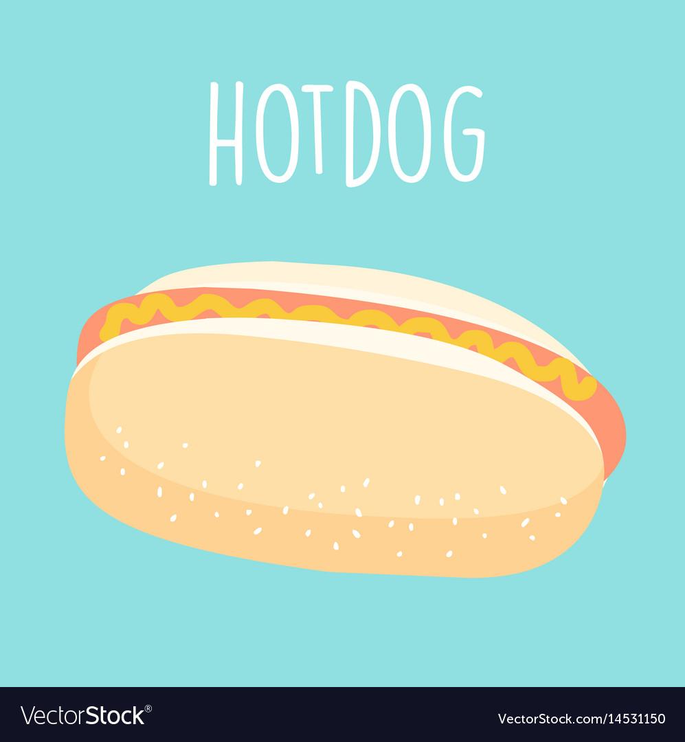 Fresh hot dog graphic