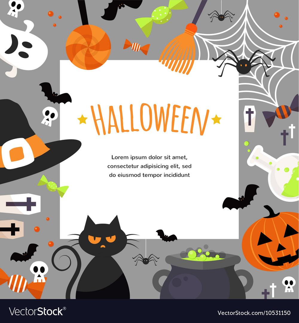 Halloween Background Flat