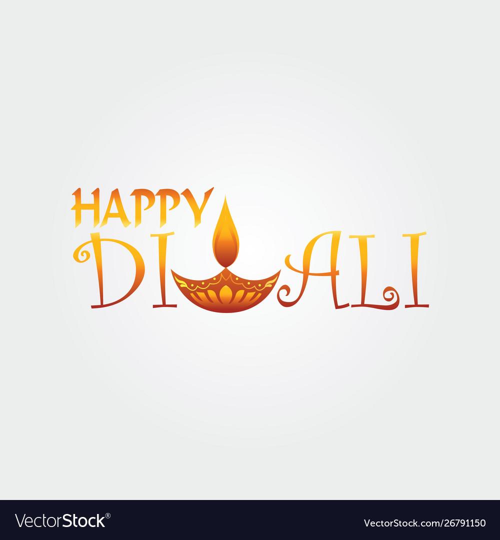 Happy diwali logo design template