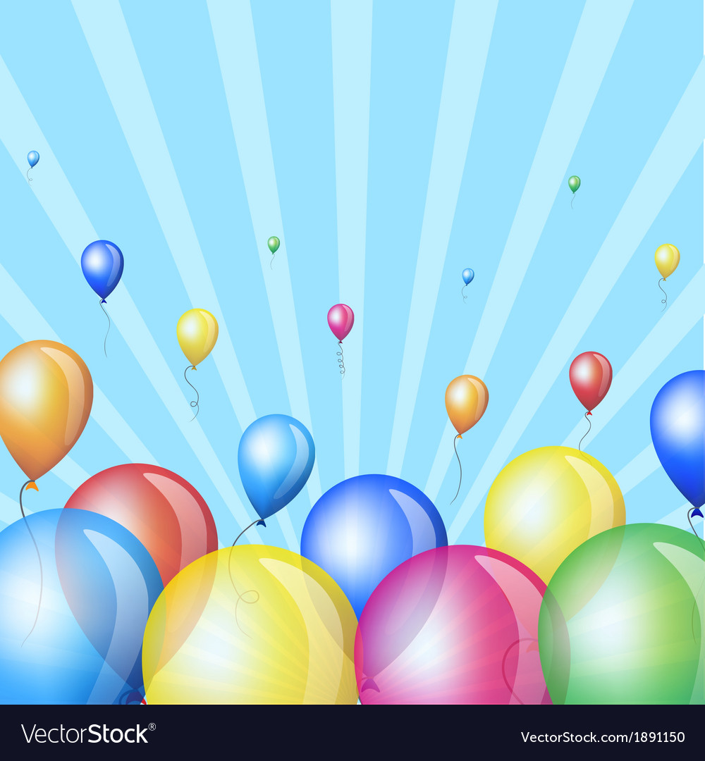 Holiday stripes background with balloons