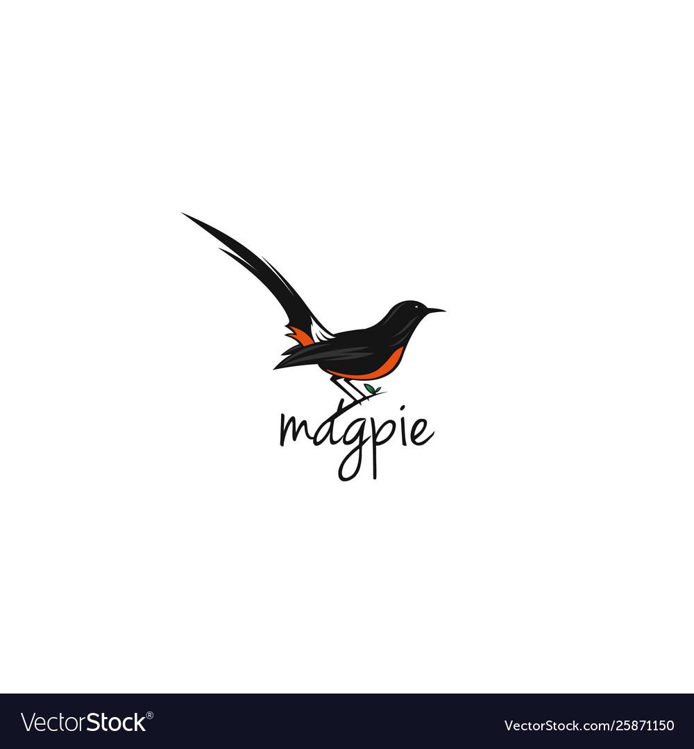 Magpie-bird-logo-template