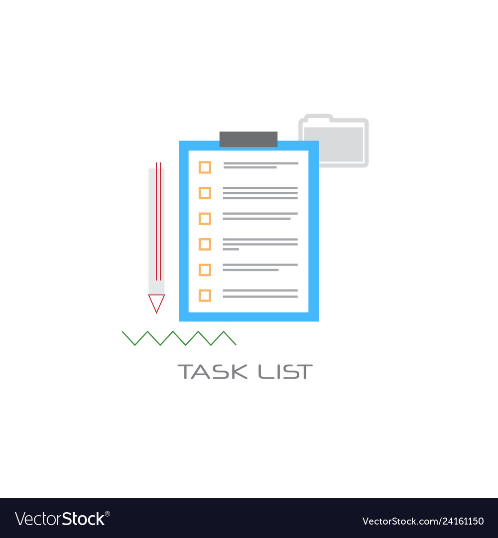Paper document task check list clipboard project