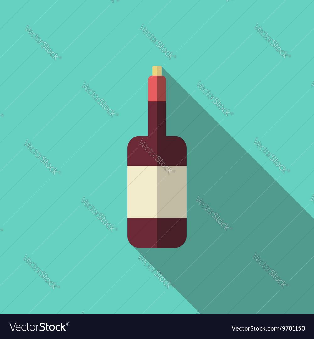 Wine bottle long shadow